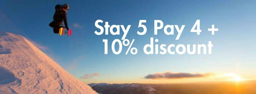 Ski Deal Stay 5 Pay 4