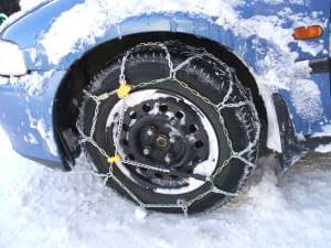 Make sure snow chains are fitted properly