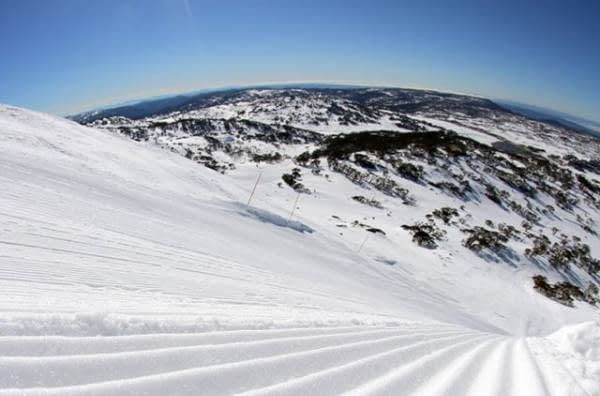 Freshly groomed after a snowfall. Image source: facebook.com/PerisherResort